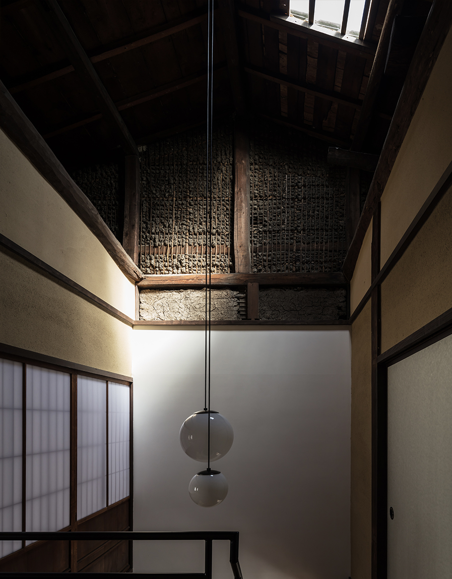 Maana Kyoto ceiling and skylight above staircase